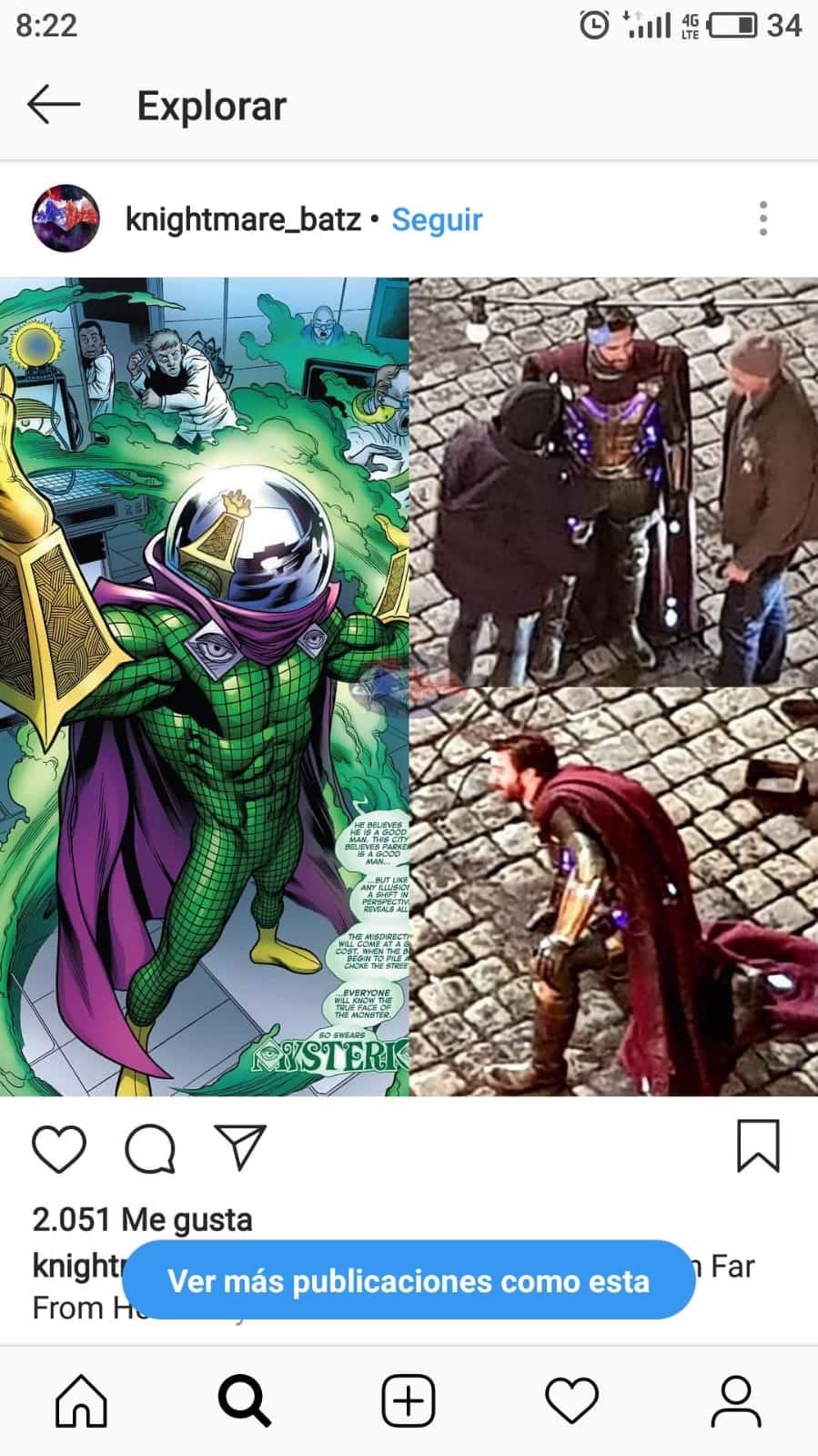 Mysterio (Jake Gyllenhaal) en el rodaje de Spider-Man: Lejos de casa