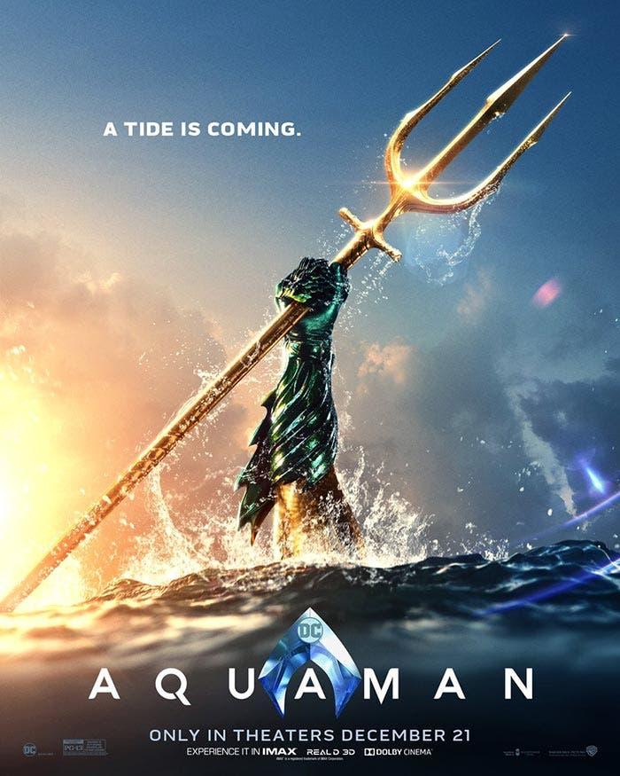 Póster de Aquaman (2018) en la NYCC