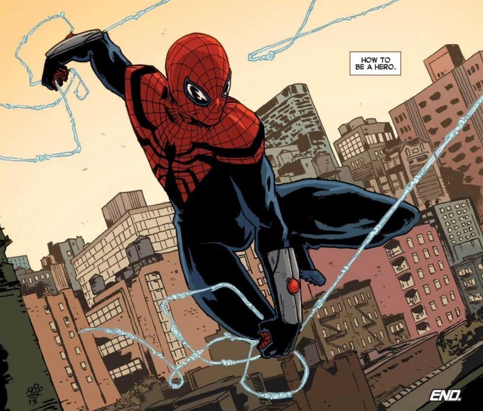 spider-man traje rojo y negro