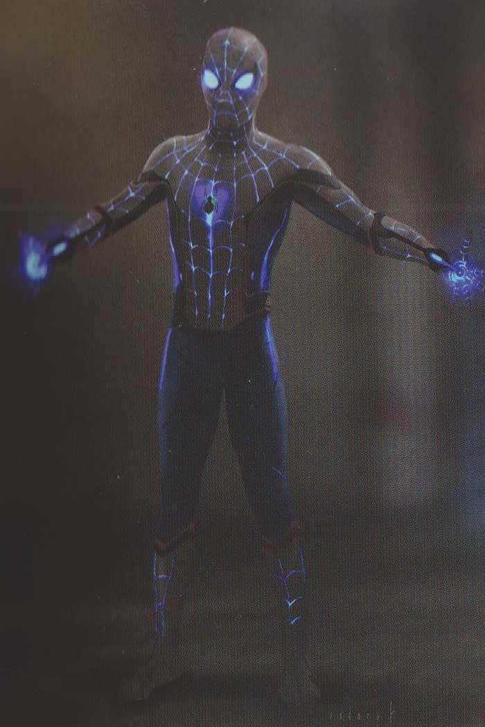 El traje de sigilo negro en Spider-Man: Lejos de casa