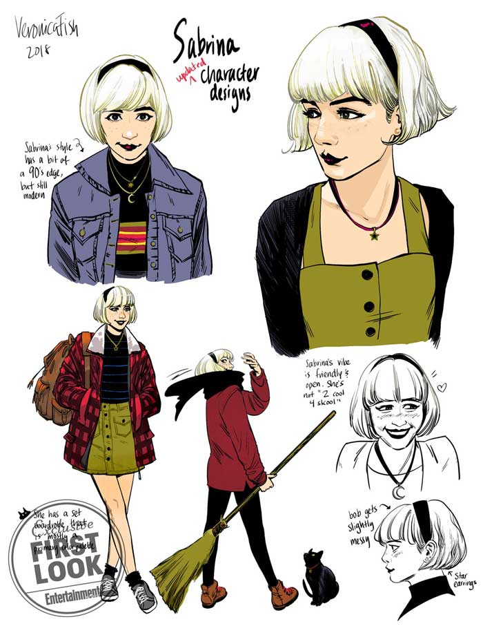 Sabrina the Teenage Witch #1 diseños