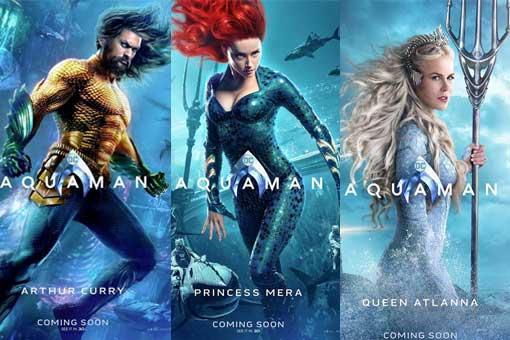 Aquaman: 7 espectaculares pósters de los protagonistas
