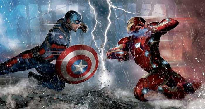 En Civil War. Tony Stark se enfrenta a Capitán América