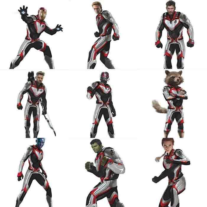 Filtran nuevas armaduras de los personajes de Vengadores 4