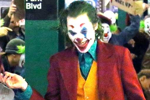 Filtran imágenes de la película del Joker en un cementerio