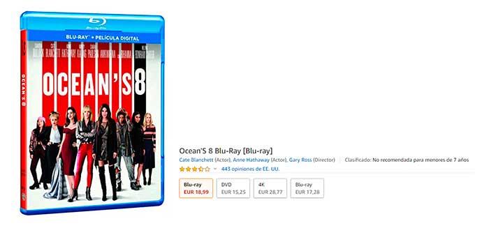ocean'8 Blu-ray