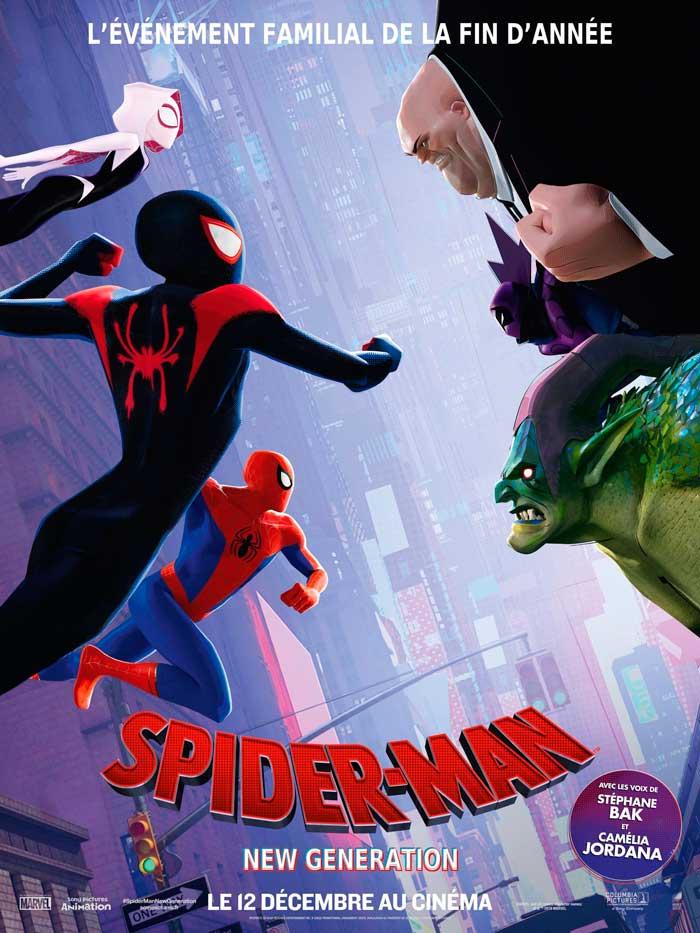 Póster francés de Spider-man: un nuevo universo