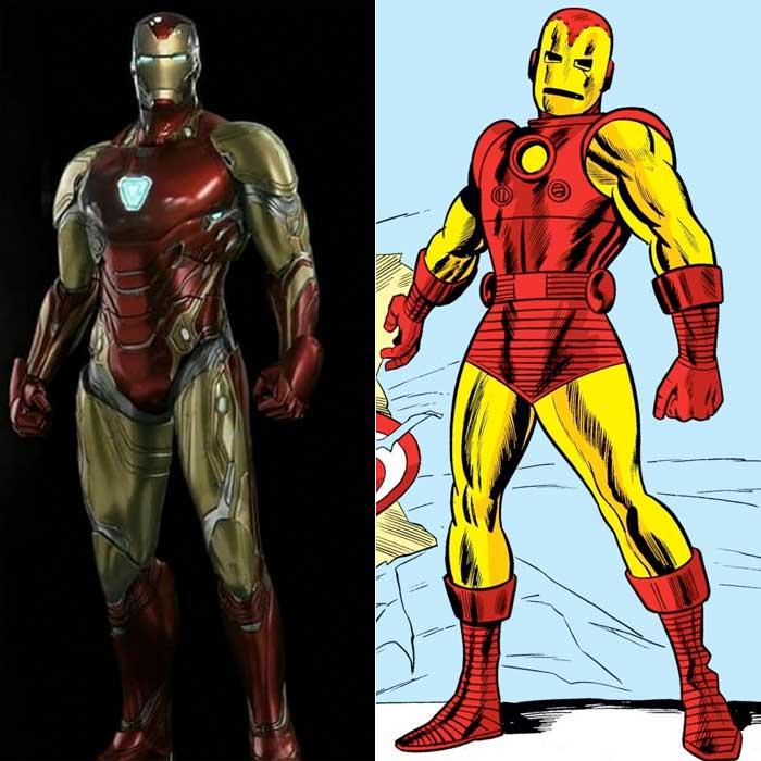 La armadura de Iron Man en Vengadores: Endgame está sacada del cómic