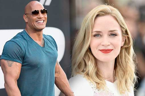 Disney le paga el doble a The Rock que a Emily Blunt por Jungle Cruise