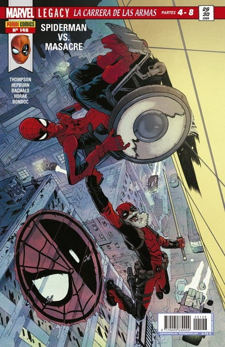 Portada de El Asombroso Spiderman 146 con Deadpool