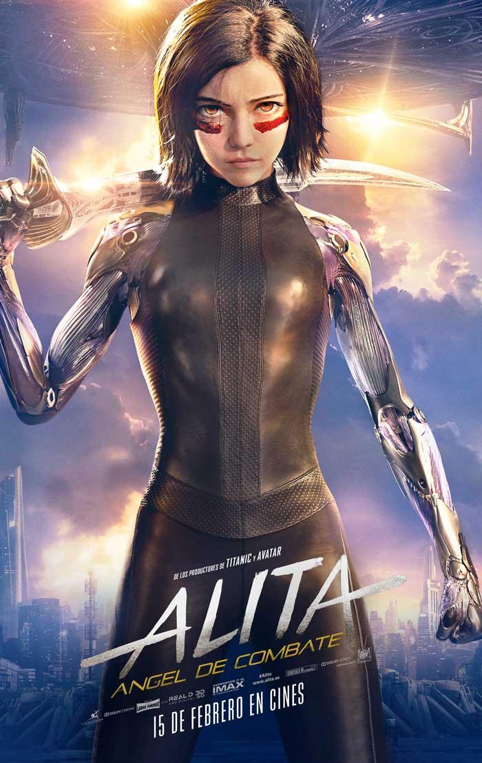 poster final de Alita: angel de combate