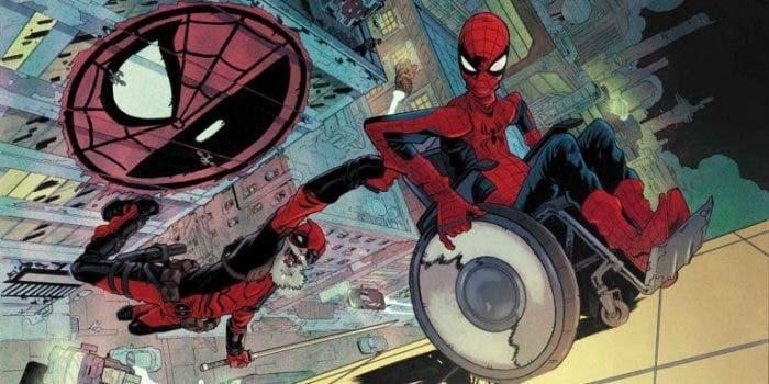 Viñeta de El Asombroso Spiderman 146 con Deadpool