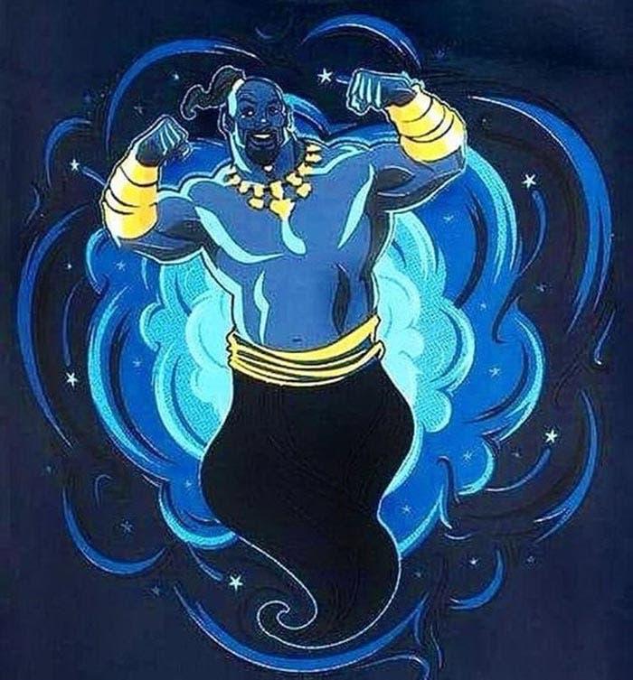 Arte promocional de Will Smith en Aladdin