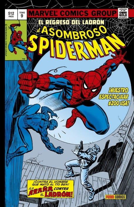 Portada de El Asombroso Spiderman: El regreso del ladrón (Panini Cómics - Marv Wolfman)