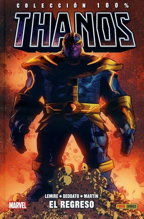 Portada de 100% Marvel HC. Thanos 1