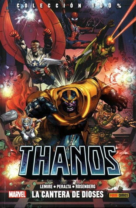 Portada de 100% Marvel HC. Thanos 2
