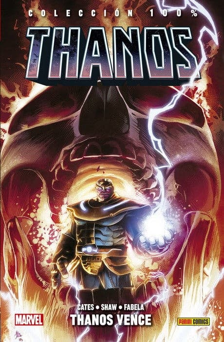 Portada de 100% Marvel HC. Thanos 3