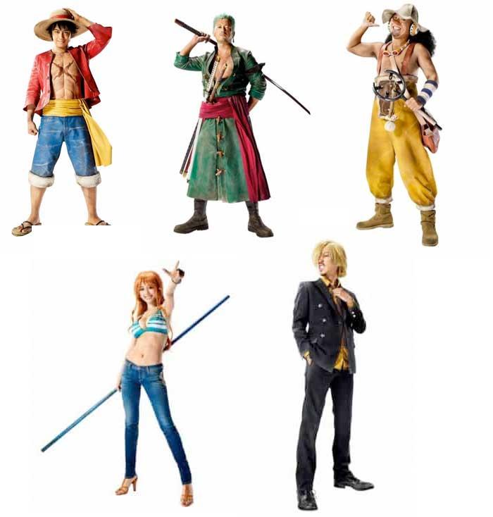 Así serían los protagonistas de One Piece en acción real