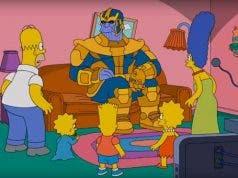 Thanos desintegra a Los Simpson, solo se salva uno