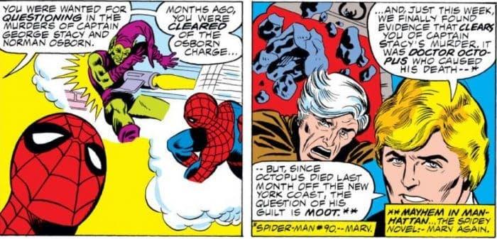 Viñeta de El Asombroso Spiderman: El regreso del ladrón (Panini Cómics - Marv Wolfman)