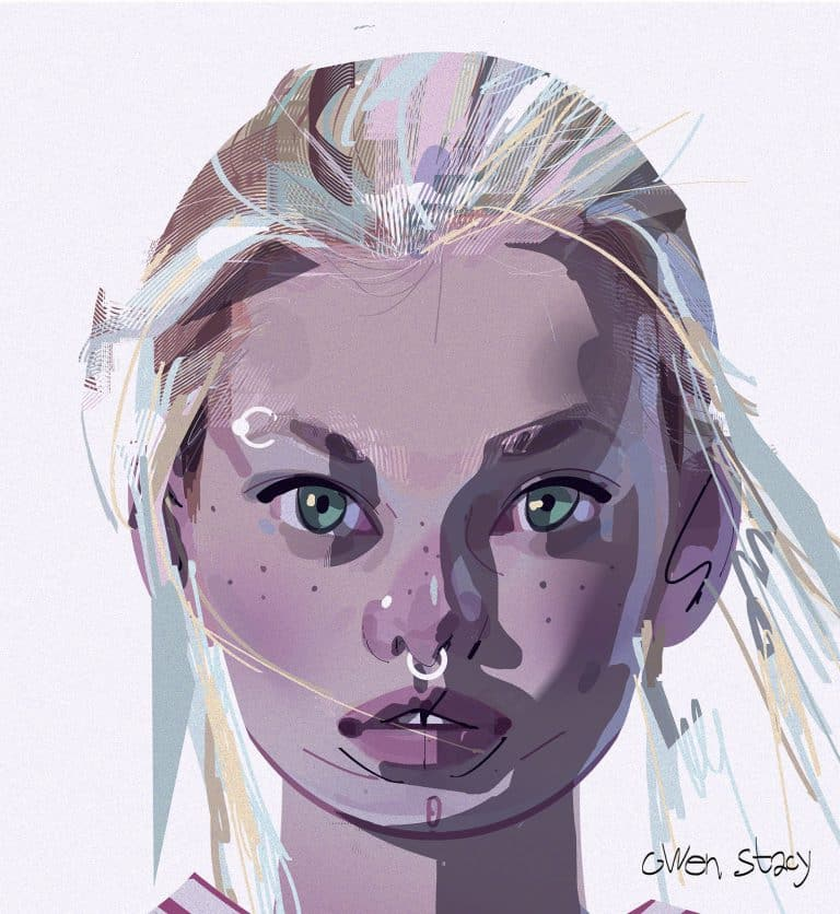 Concept art Gwen Stacy