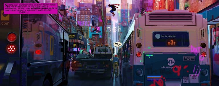 Concept art Alberto Mielgo Spider-Man: into the verse