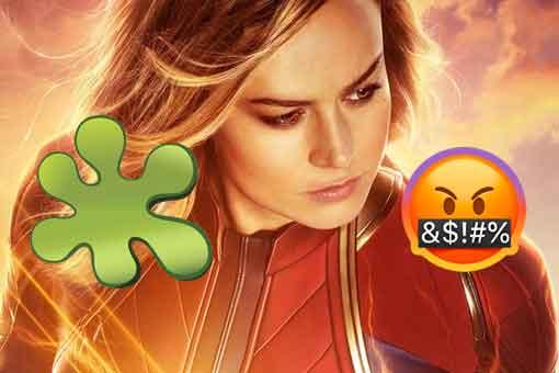 Los trolls atacan a Capitana Marvel y a Brie Larson en Rotten Tomatoes