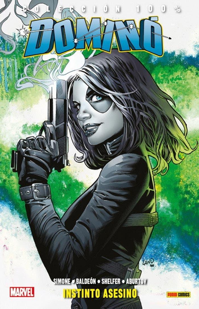 Portada de Domino: Instinto asesino (Marvel - Panini Cómics)