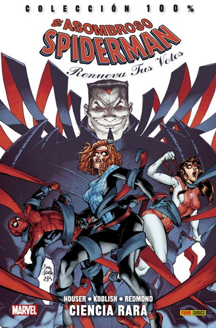 Portada de El Asombroso Spiderman: Renueva tus votos - Ciencia rara (Marvel - Panini Cómics)