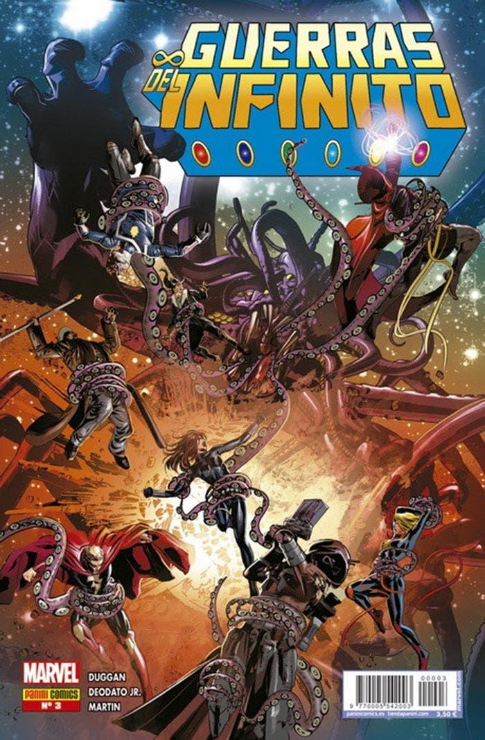 Portada de Guerras del Infinito 3 (Marvel - Panini Cómics)