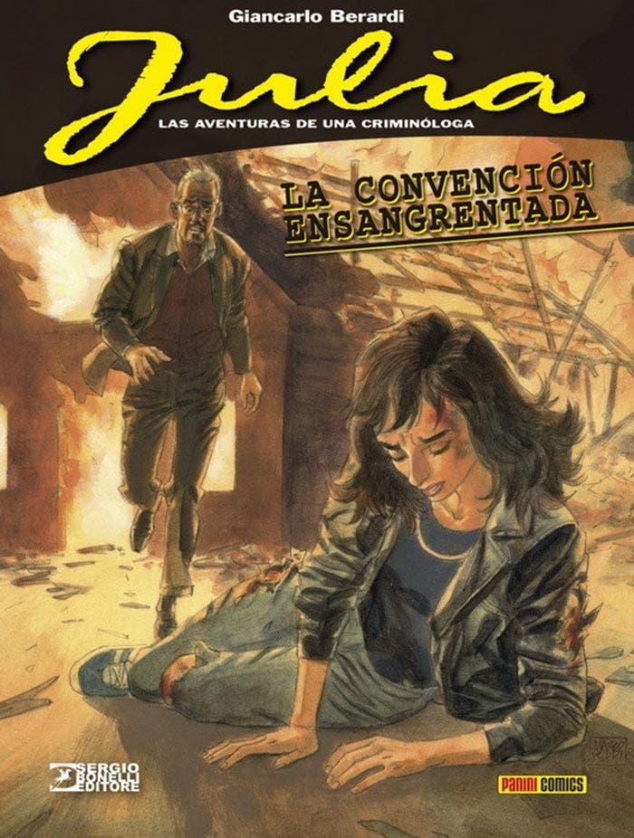 Portada de Julia: Las aventuras de una criminóloga - La convención ensangrentada (Panini Cómics)