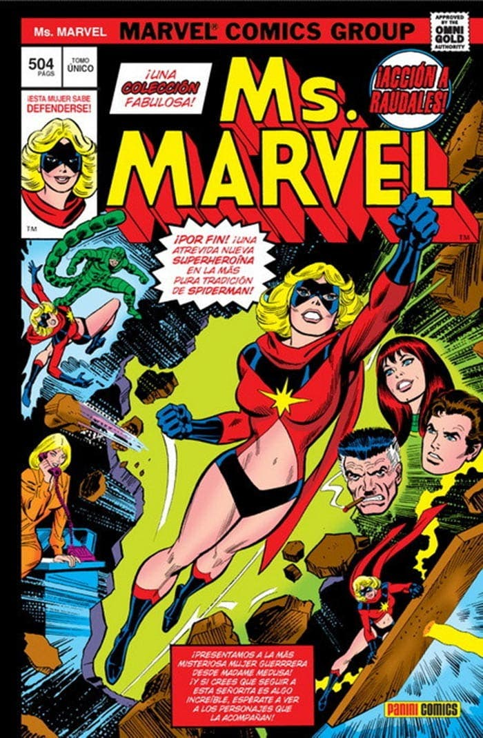 Portada de Marvel Gold. Ms. Marvel (Marvel - Panini Cómics)