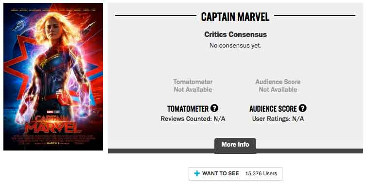 Rotten Tomatoes cambia para proteger a Capitana Marvel y Star Wars 9