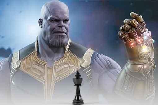 Fan Art de Thanos en la partida de ajedrez de Vengadores: Endgame