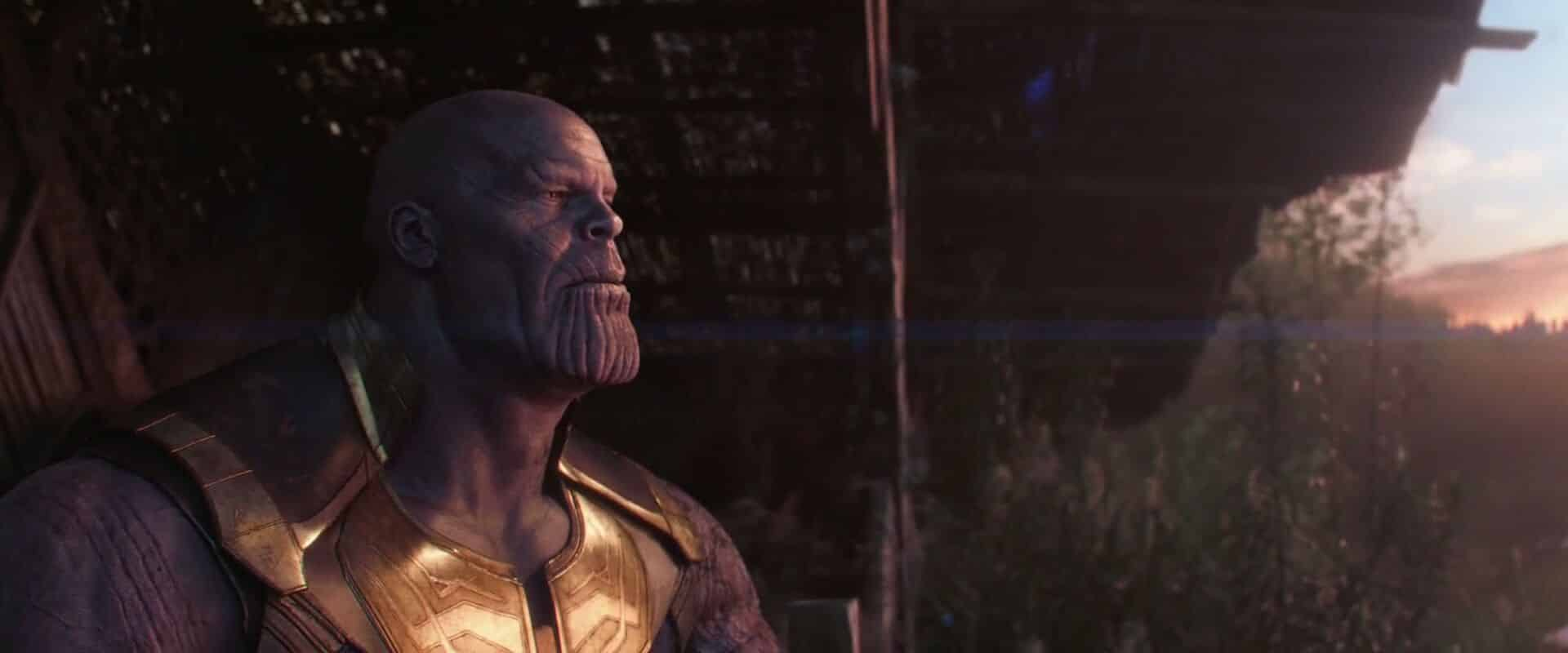 thanos al final de Vengadores: Infinity war