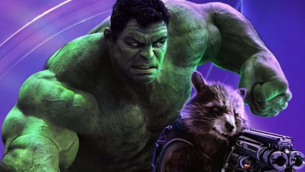 vengadores: endgame hulk rocket raccoon