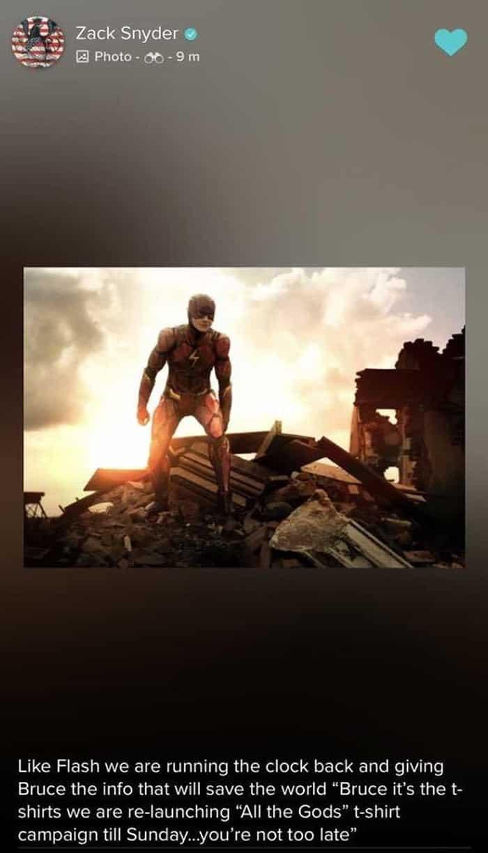 Flash en la Liga de la Justicia de Zack Snyder (DC Comics)