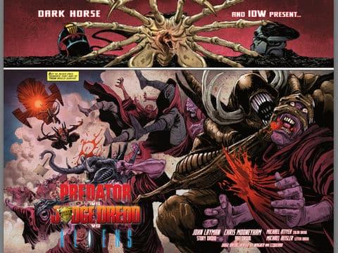 Depredador vs Juez Dredd vs Alien: Corta y empalma