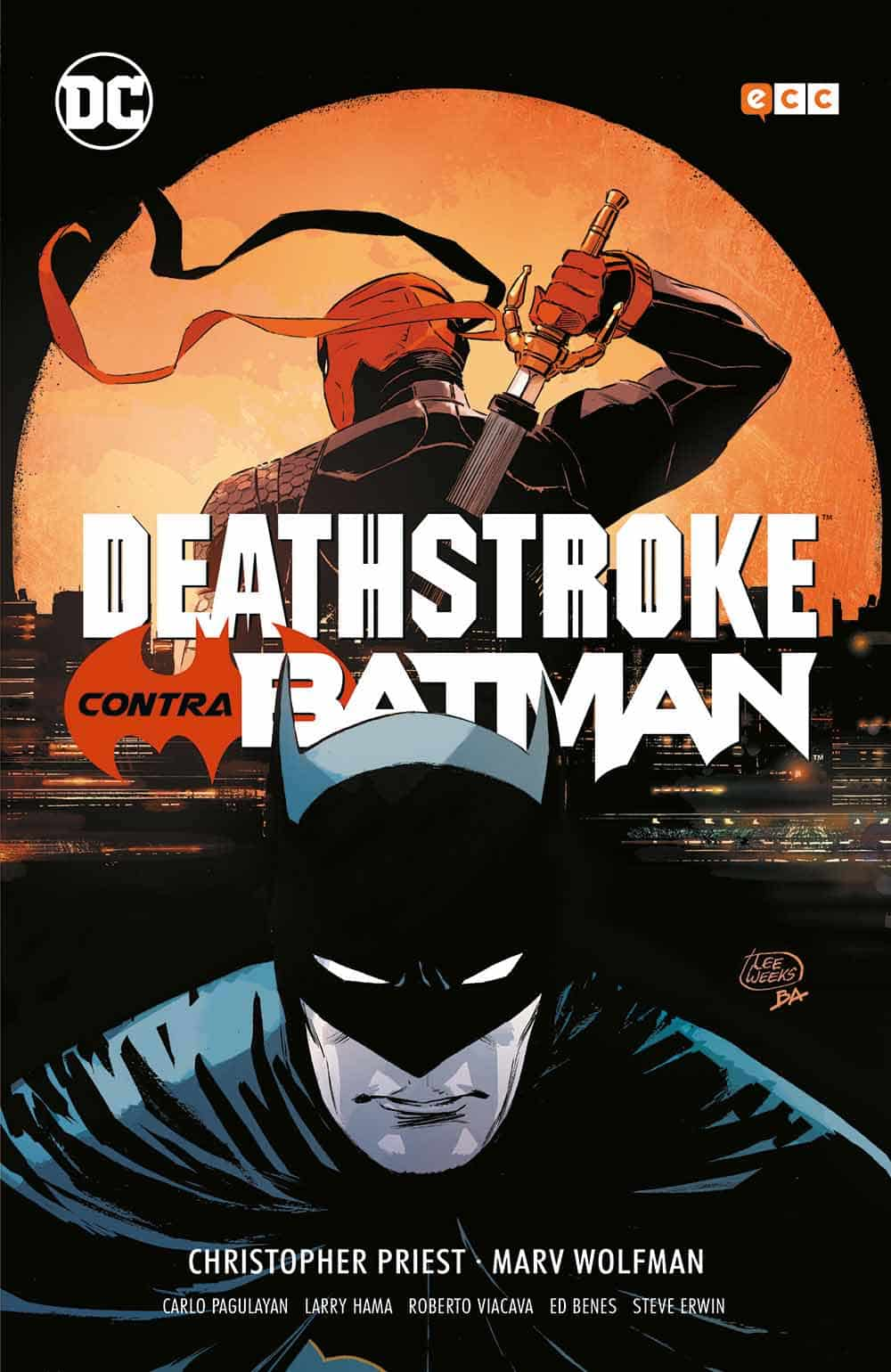 Deathstroke contra Batman cover