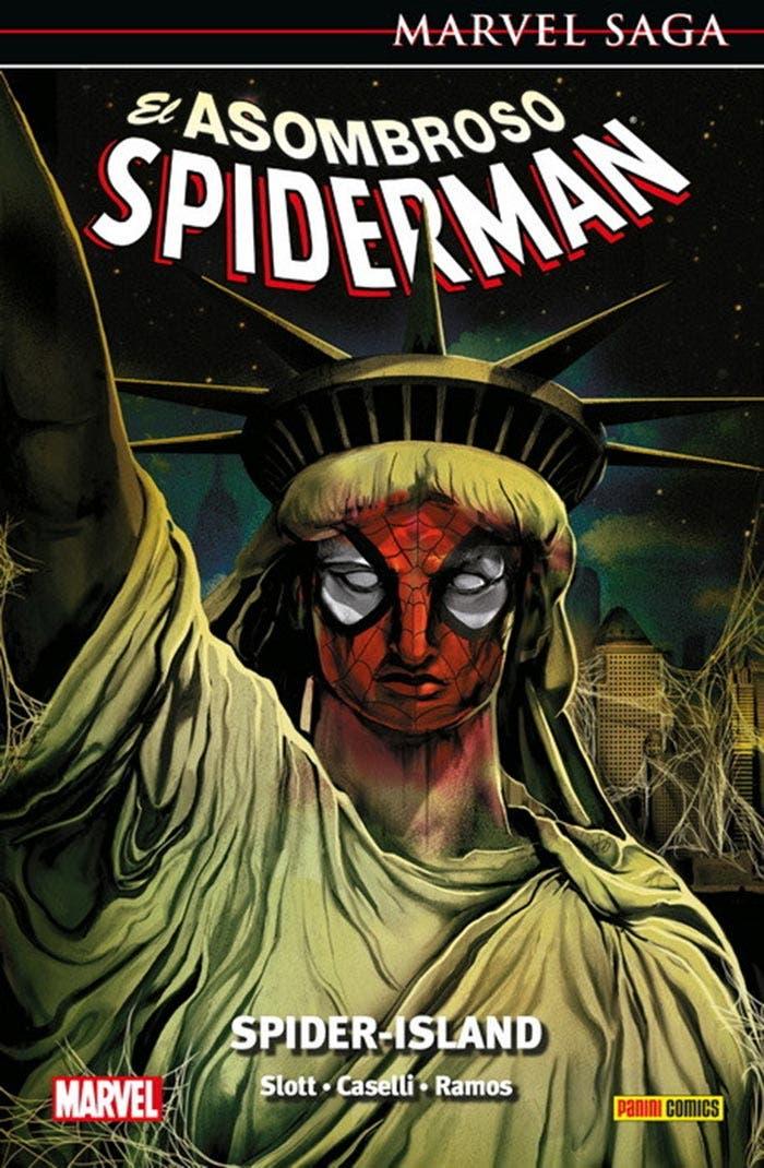 Hablamos de El Asombroso Spiderman: Spider-Island, el tomo número 34 de Marvel Saga con la gran historia de Dan Slott y Humberto Ramos.