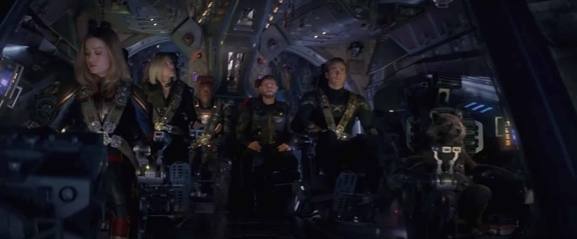 Los vengadores viajan al espacio
