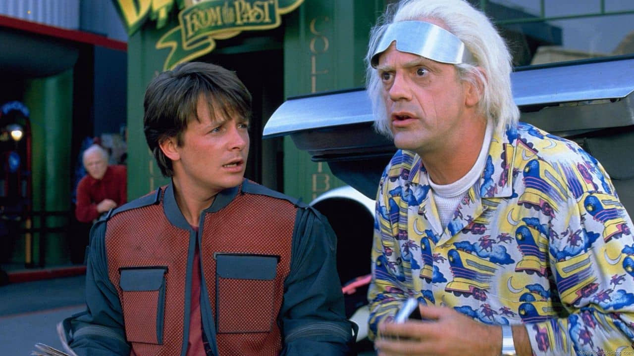Doc Brown en Regreso al futuro