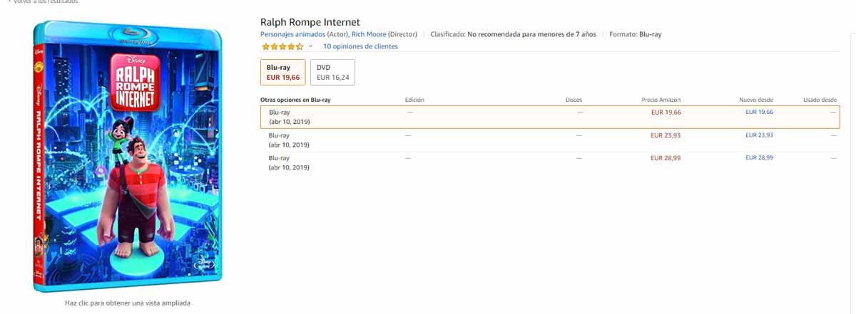 Ralph rompe internet compar en amazon