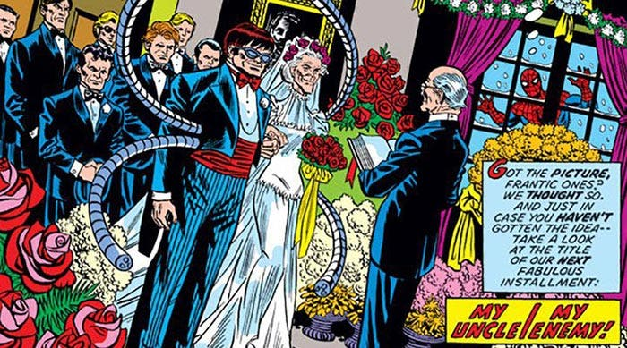 La boda de Tía May y Octopus en los cómics de Spider-Man