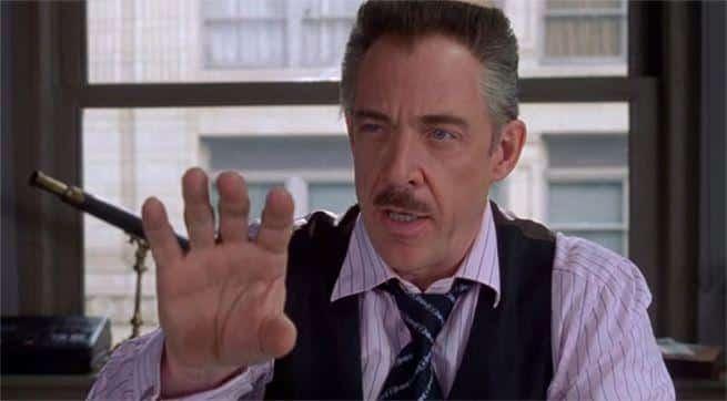 Spider-man: Lejos de casa. j jonah Jameson en la premiere