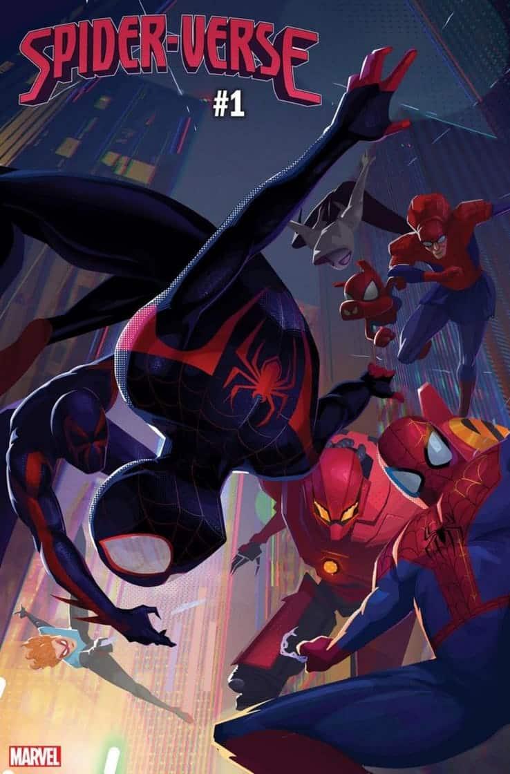 Portada de Marvel Spider-Verse. Spider-man regresa al multiverso
