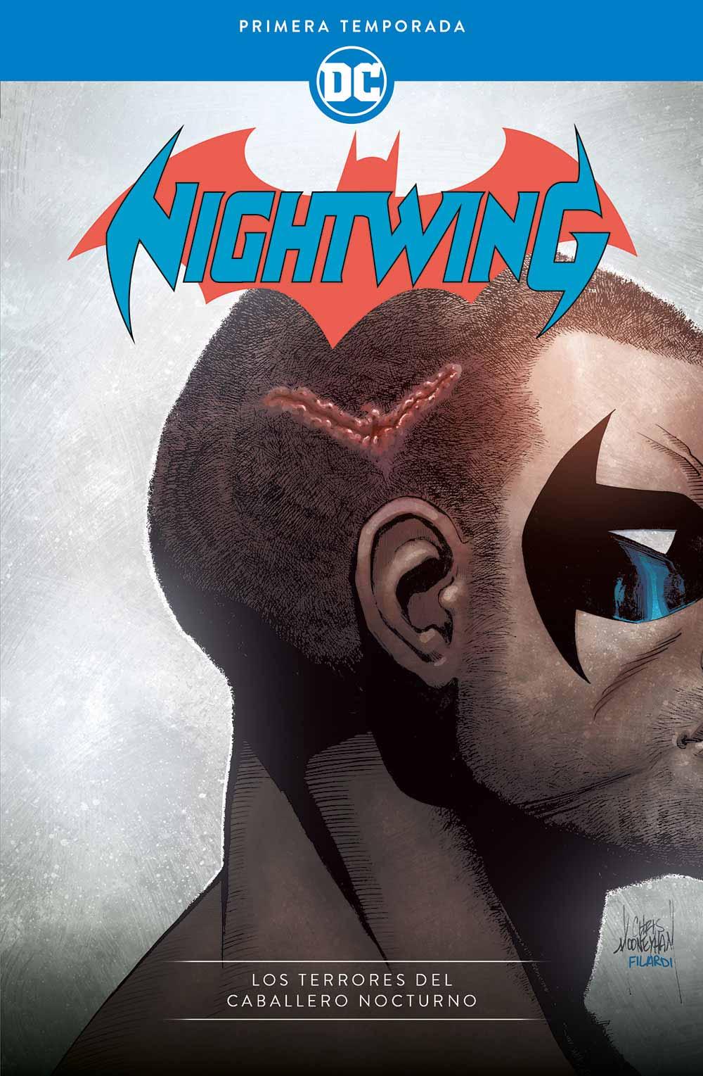 Portada de DC Comics editado en España por ECC Ediciones. Nightwing Los terrores del caballero nocturno