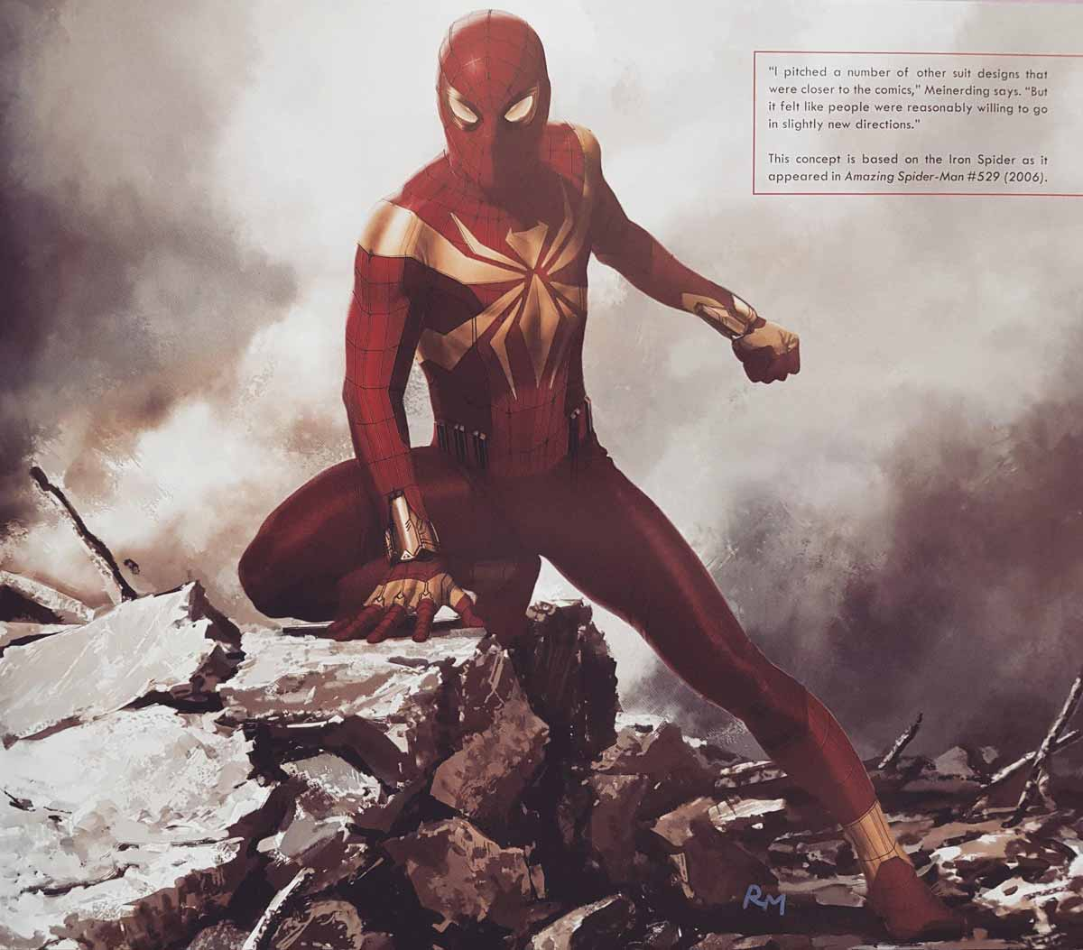 concept art iron spider