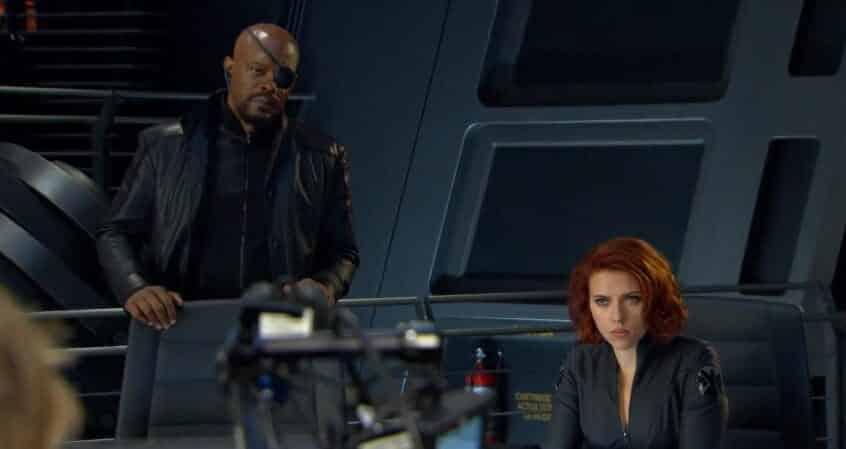 nick fury black widow
