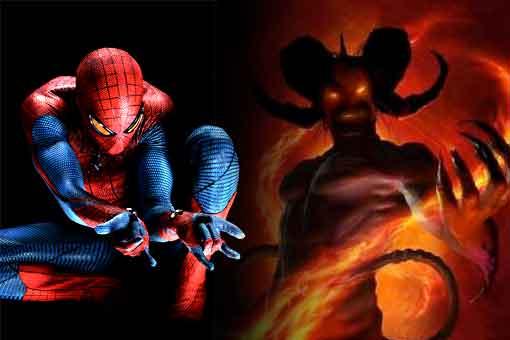 Una estatua de Spider-man acusada de satánica y crimen de odio